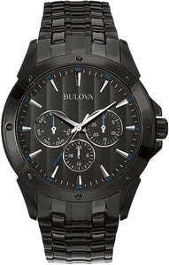 Bulova Analog Full Black Stainless Steel Watch