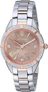 Bulova Two Tone Crystal Watch