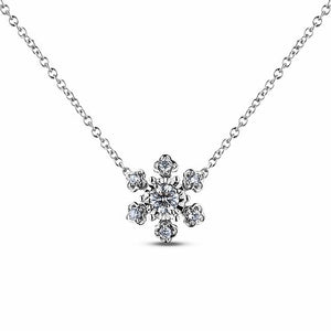 10K Diamond Snowflake Necklace