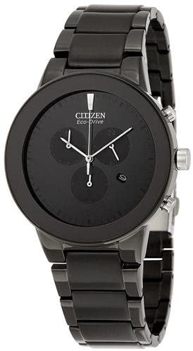 Citizen Full Black Eco Drive Chronograph Watch