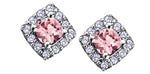 Load image into Gallery viewer, 10K White Gold Diamond & Gem Earrings