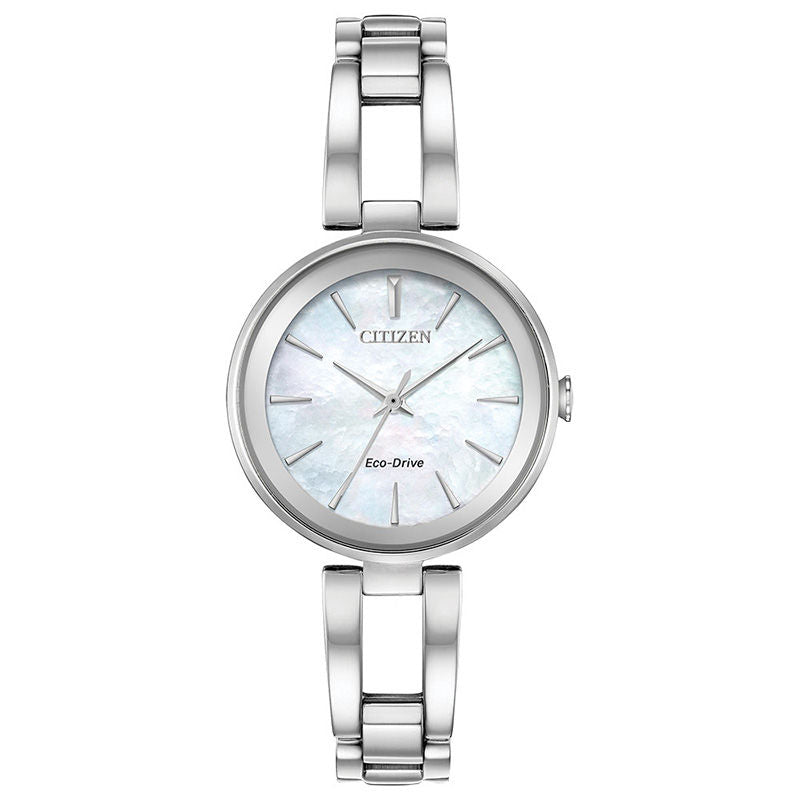 Citizen Eco Drive Silver Tone Mother of Pearl Watch