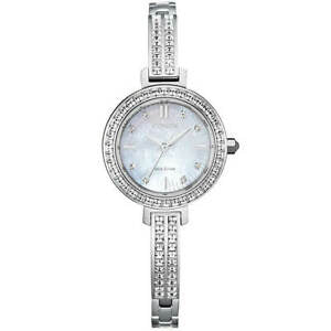 Citizen Eco Drive Bangle Silver Tone Watch