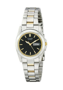 Citizen Quartz Day Date Two Tone Watch