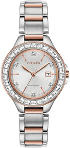 Citizen Eco Drive Stainless Steel Rose Gold Tone Watch