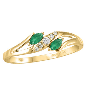 10K Gold & Gem Rings
