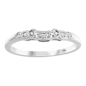 10K White Gold Diamond Wedding Band