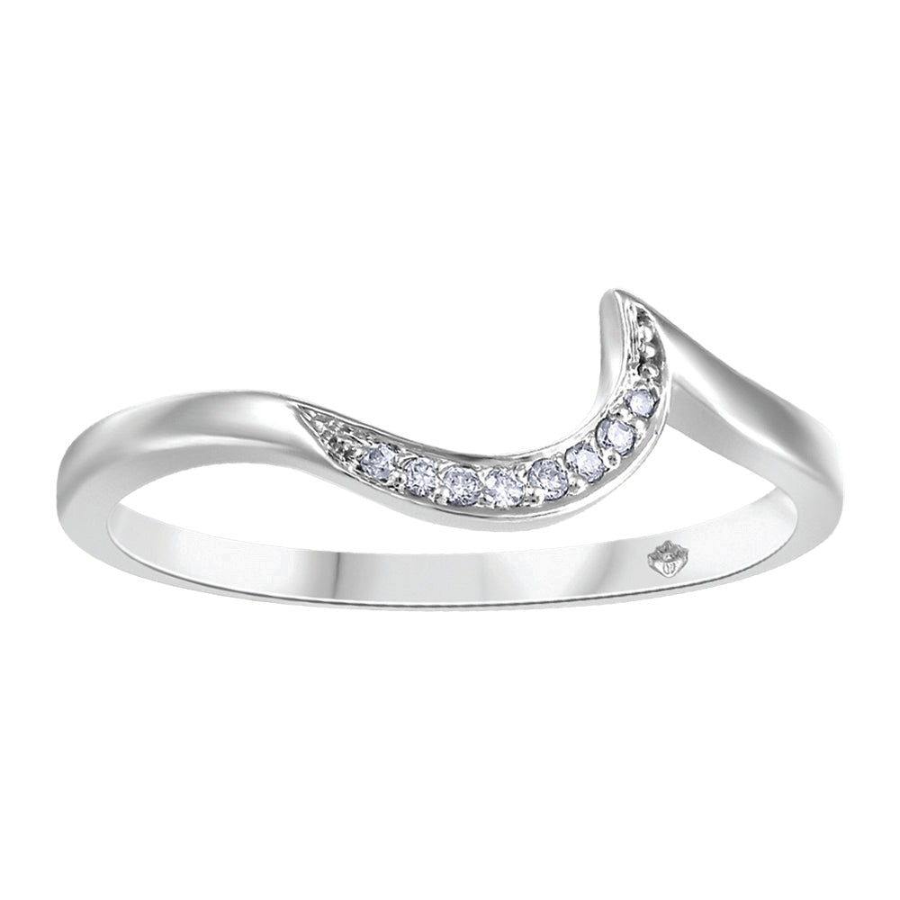 10K White Gold Wedding Band