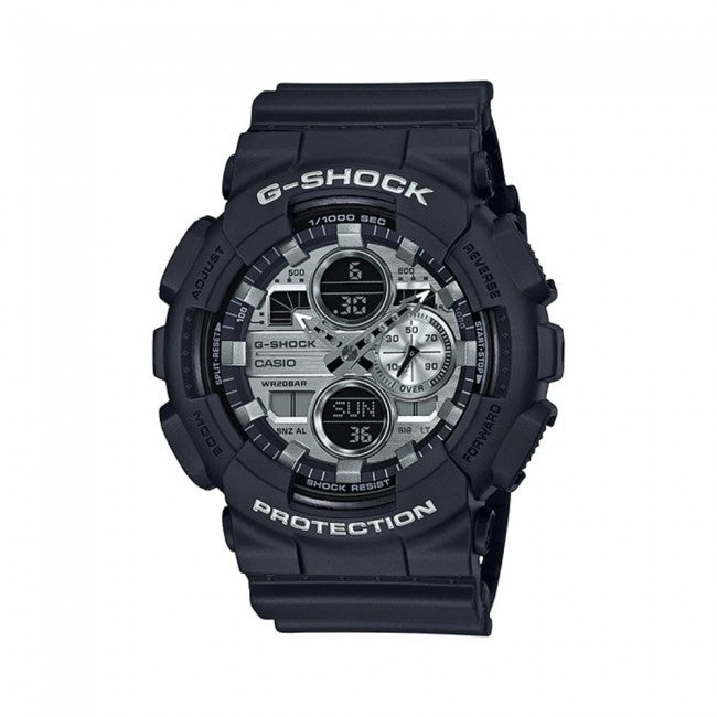 G Shock Black and Silver Tone Metallic Watch
