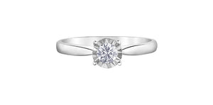 10K Gold Diamond Solitaire Ring