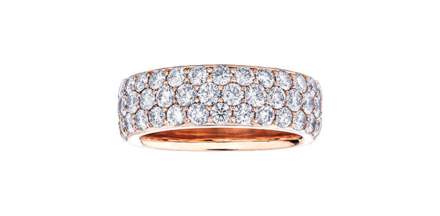 10K Gold Wide Diamond Band