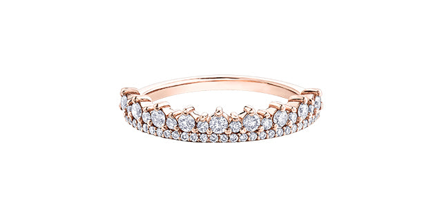 10K Rose Gold Half Carat Diamond Ring