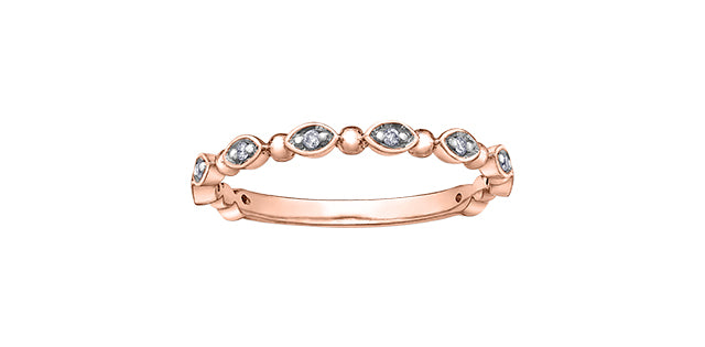 10K Rose Gold Diamond Chi Chi Ring