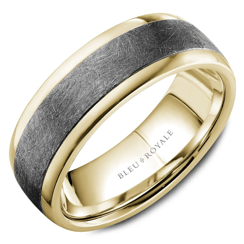 14K Tantalum Grey & Yellow Ring
