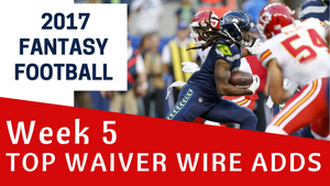 Fantasy Football Week 5 - Top Waiver Wire Adds