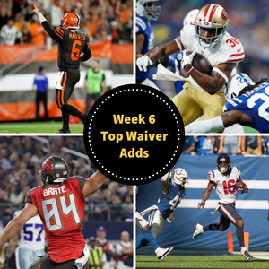 Week 6 Fantasy Football - Top Waiver Wire Adds