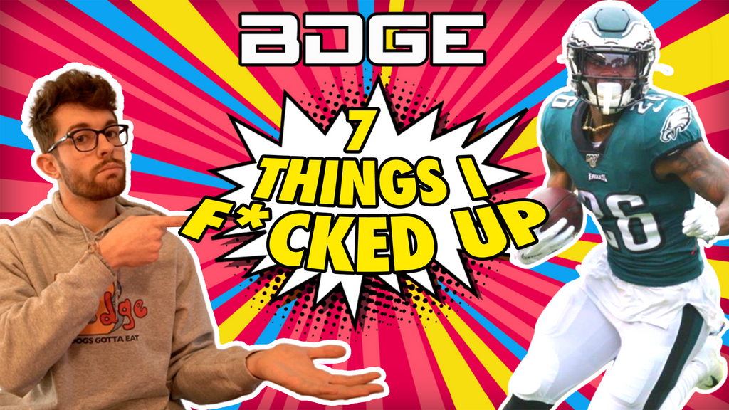 Top 7 Things I F*cked Up in 2020 Fantasy Football