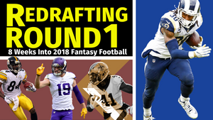 Redrafting Round 1 - Midseason Fantasy Football 2018 Mock Draft