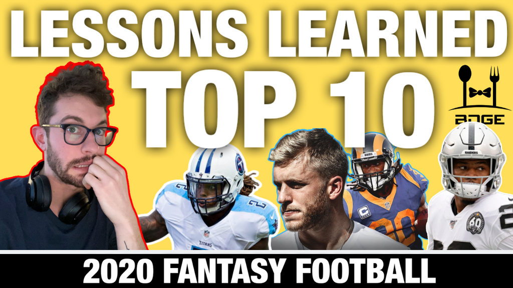 Top 10 Lessons Learned from the 2019 Fantasy Football Season