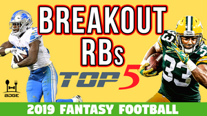 Top 5 Running Back Breakouts in 2019 Fantasy Football