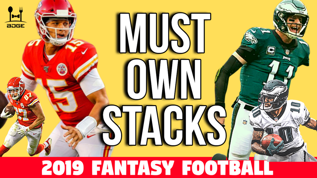 Must Own Teammate Stacks for 2019 Fantasy Football