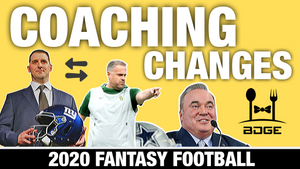 NFL Coaching Changes Impact on 2020 Fantasy Football