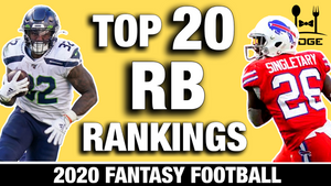 Running Back Rankings for 2020 Fantasy Football (Part IV)