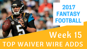 Fantasy Football Week 15 - Top Waiver Wire Adds