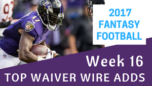 Fantasy Football Week 16 - Top Waiver Wire Adds