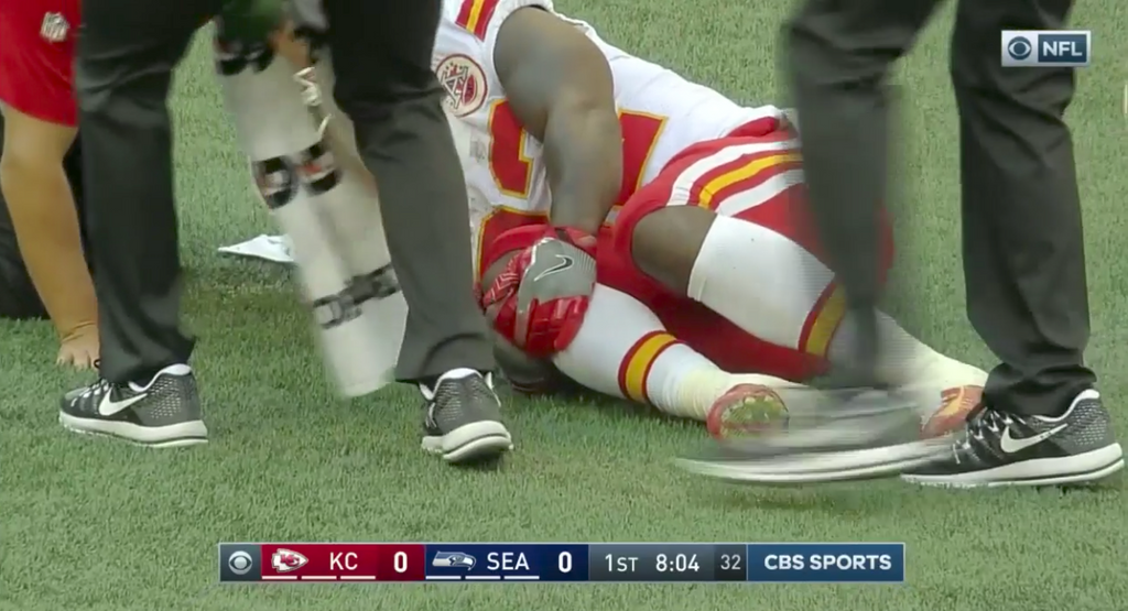 Spencer Ware Carted Off Field w. Knee Injury - Fantasy Football Reaction
