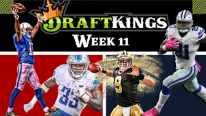 Week 11 - Top DFS Picks and DraftKings Lineups