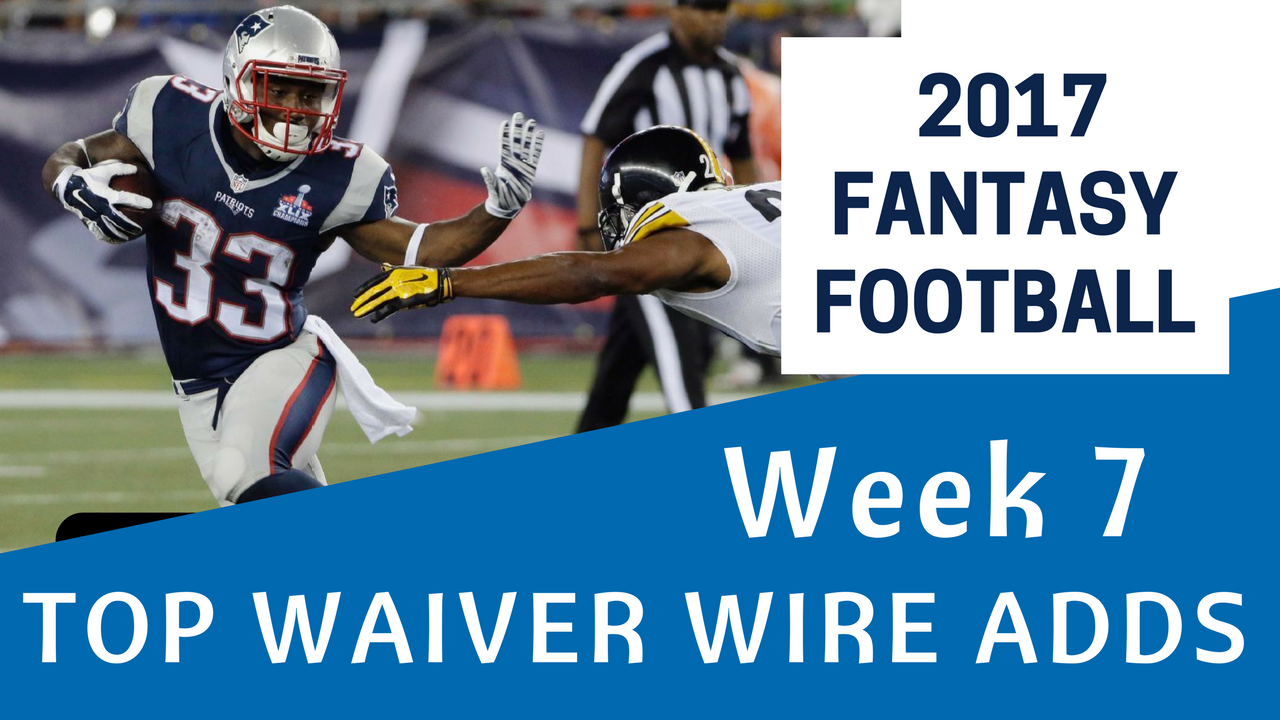 Fantasy Football Week 7 - Waiver Wire Top Adds - BDGE Store