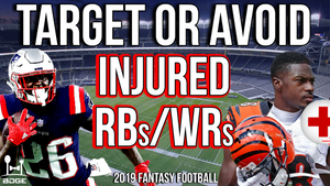 2019 Fantasy Football Draft Day Targets Based on Injuries w/ Dr. Jesse Morse