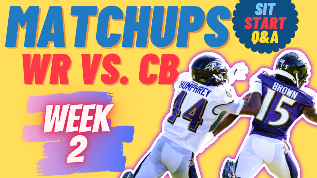 Week 2 WR vs. CB Matchups (Patreon Q&A)