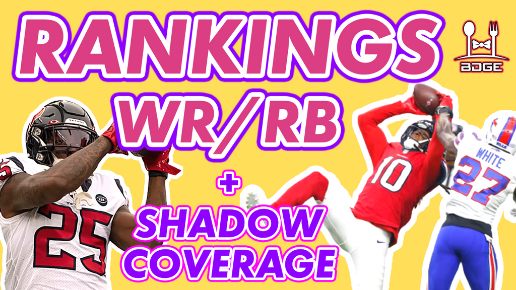 Week 10 Running Back & Wide Receiver Rankings