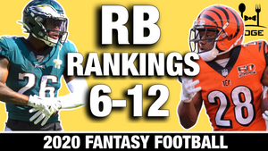 Top 12 Running Backs Rankings for 2020 Fantasy Football (Part II)