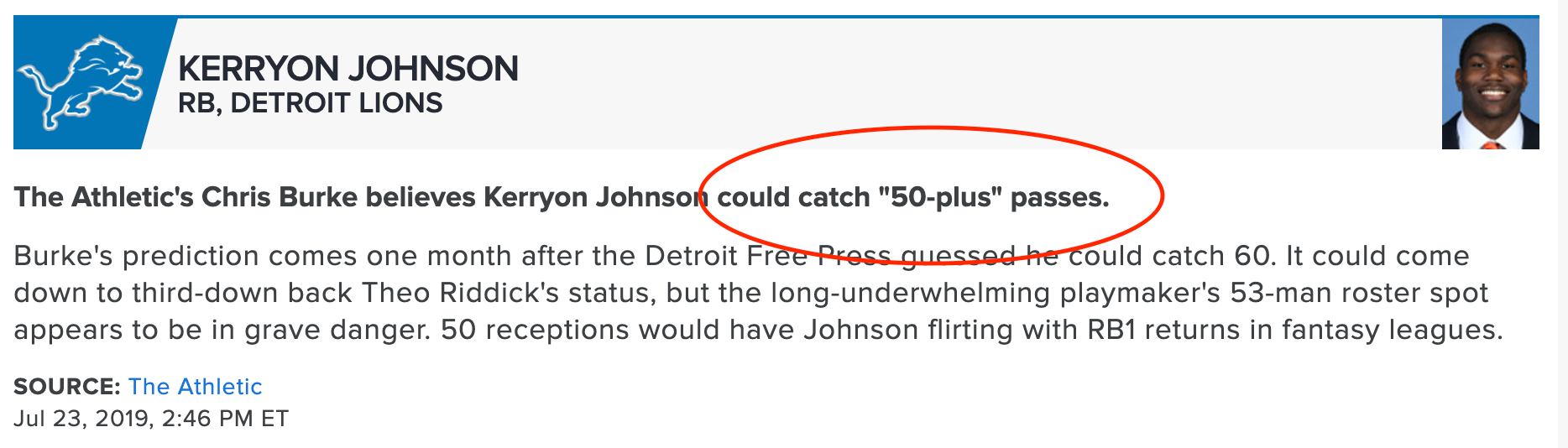 kerryon johnson 2019 fantasy