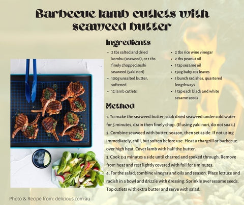 Barbecue Lamb Cutlets With Seaweed Butter
