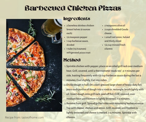 Barbecued Pizzas