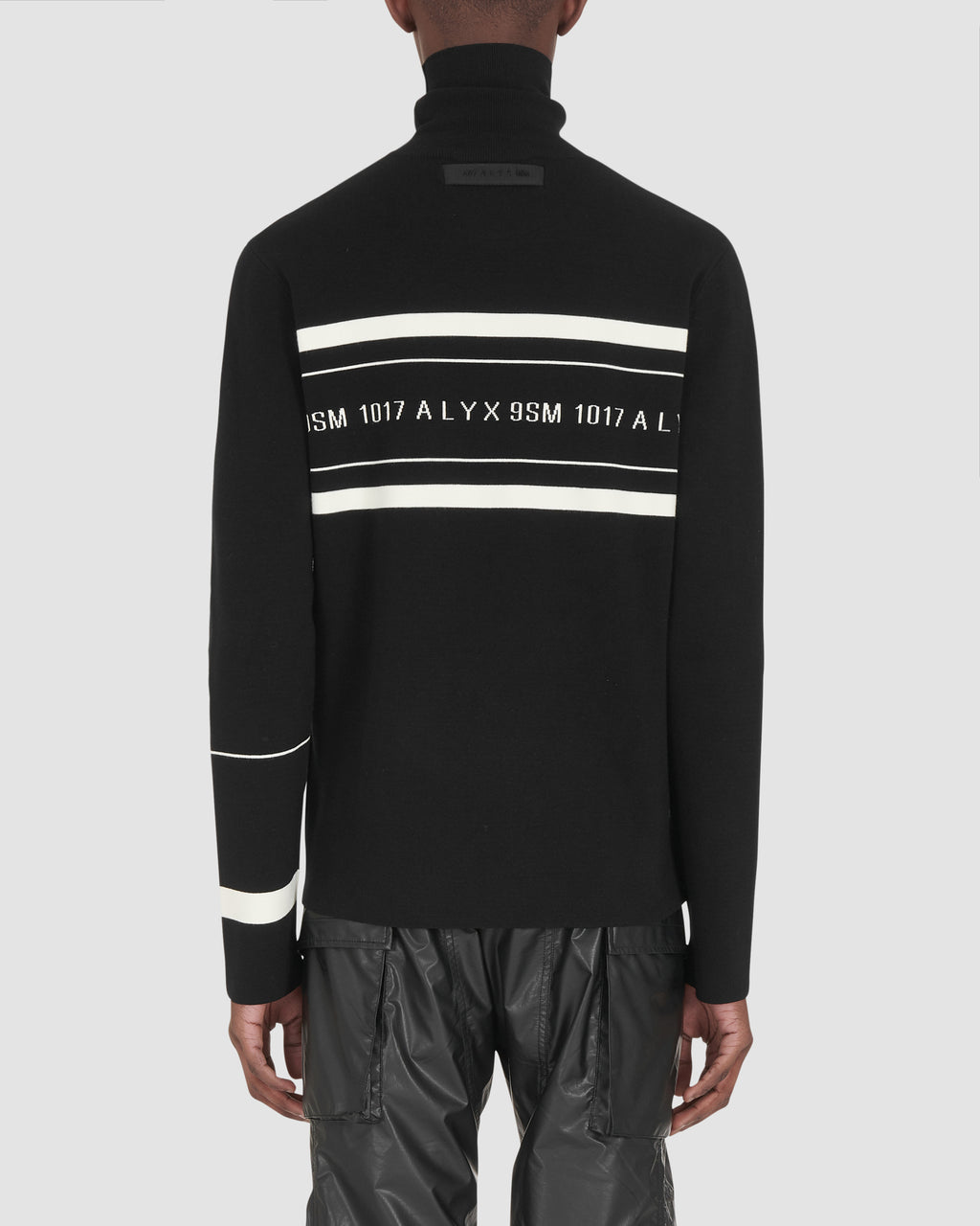 LOGO MULTI STRIPE TURTLENECK