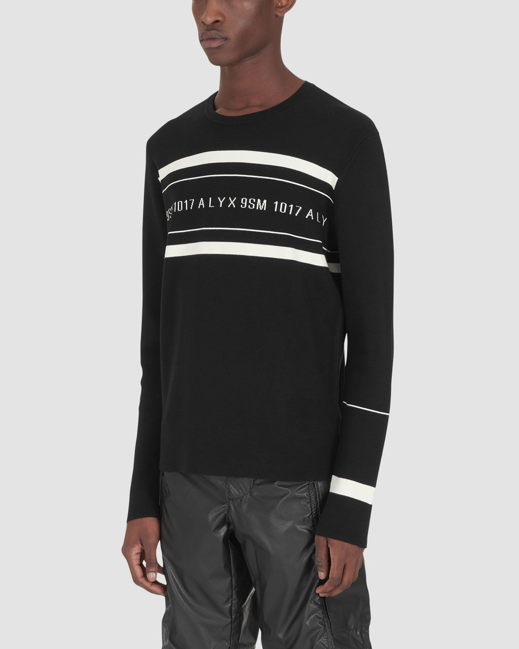 LOGO MULTI STRIPE SWEATER