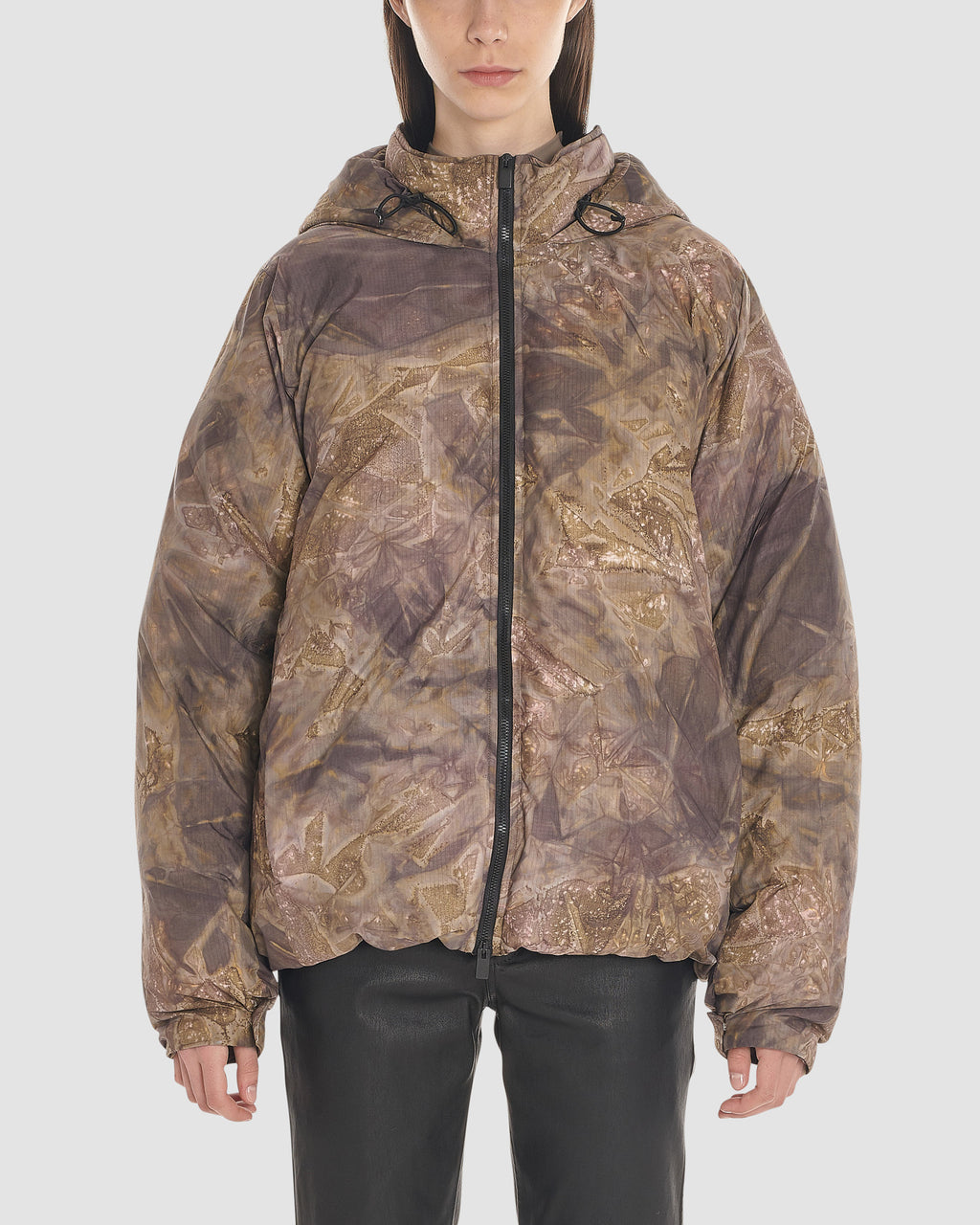 CAMO HOODED PUFFER JACKET