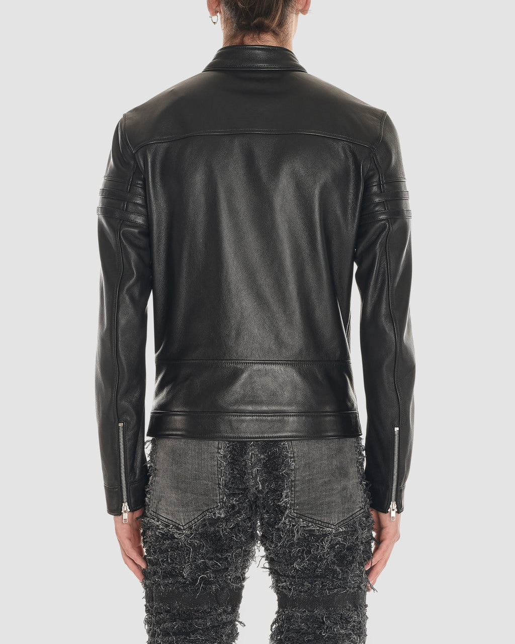 1017 ALYX 9SM | BLACKMEANS LEATHER BIKER JACKET | Outerwear | 60OFFF19LC, Black, BLACKMEANS, F19, Man, Outerwear