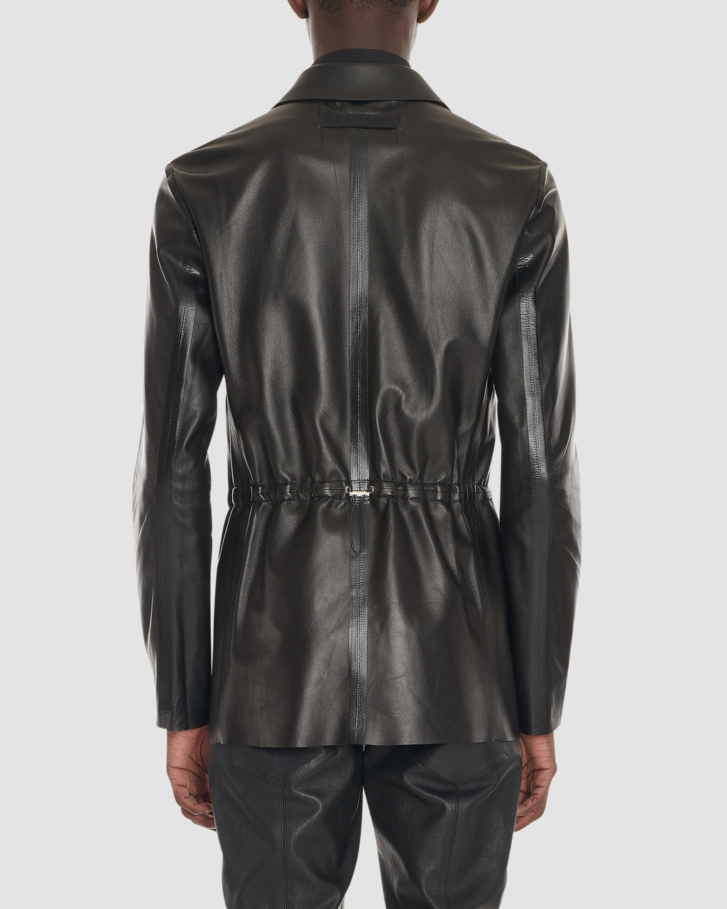 TAPED LEATHER BLAZER