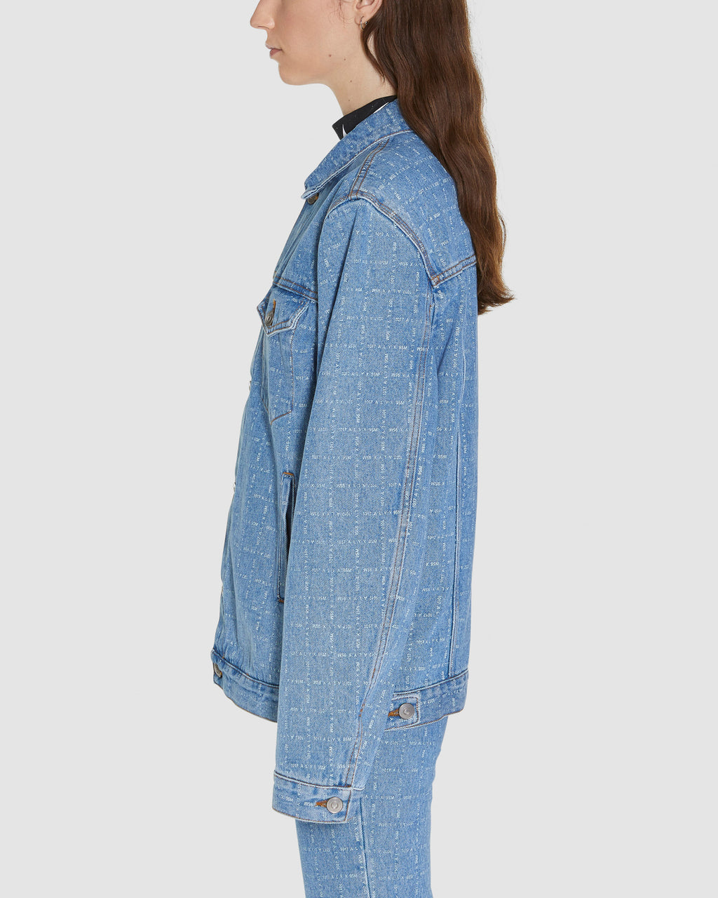 LOGO CHECK DENIM JACKET