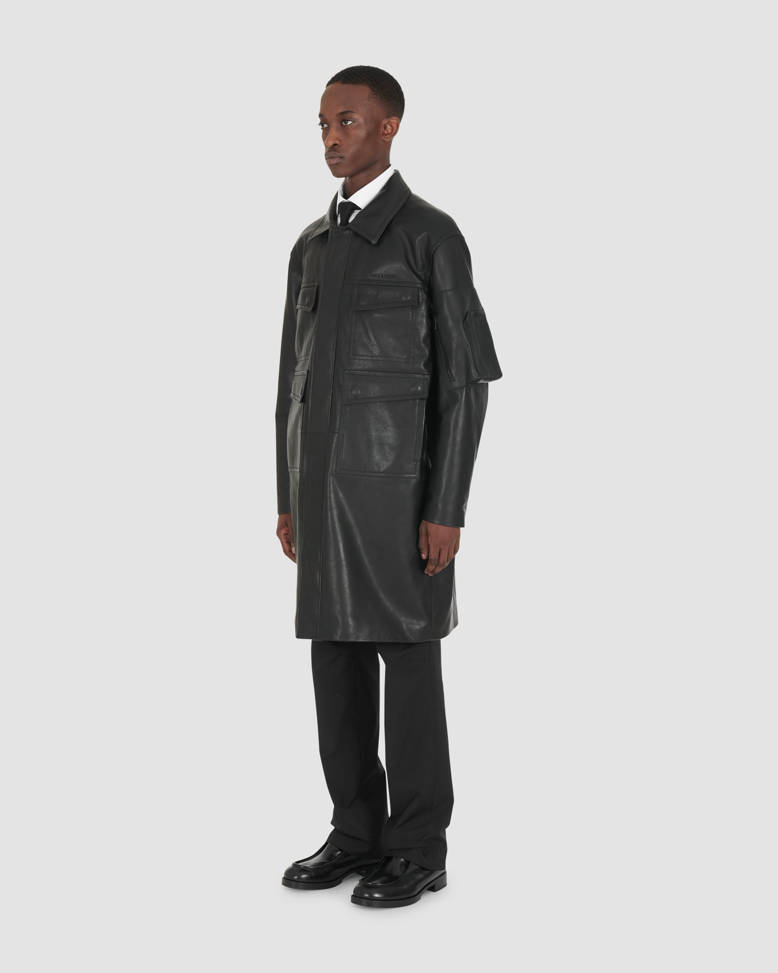 1017 ALYX 9SM | LEATHER POLICE COAT RUNWAY MADE TO ORDER | Outerwear | F20, FW20 PRE-ORDER