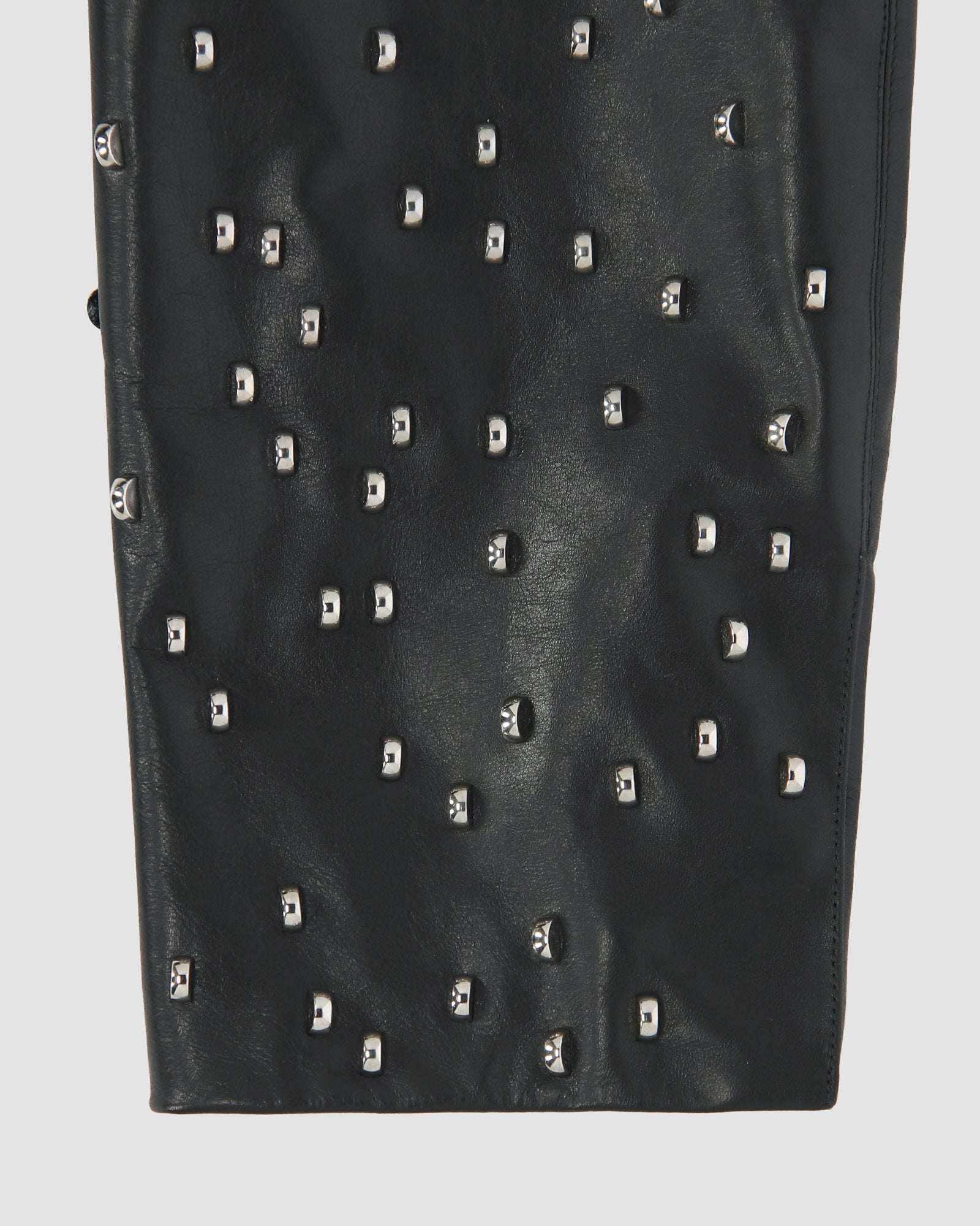 STUDDED LEATHER COAT