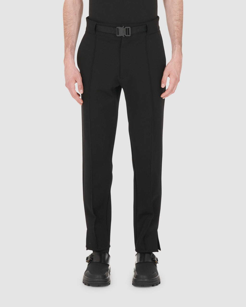BLACK CLASSIC TROUSERS W BUCKLE