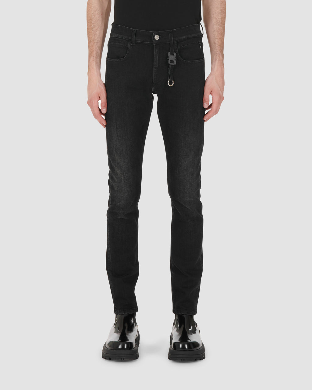 1017 ALYX 9SM | CLASSIC JEAN W NYLON BUCKLE | Pants | BLACK, Google Shopping, Man, MEN, Pants, S20, S20 Drop II, Trousers