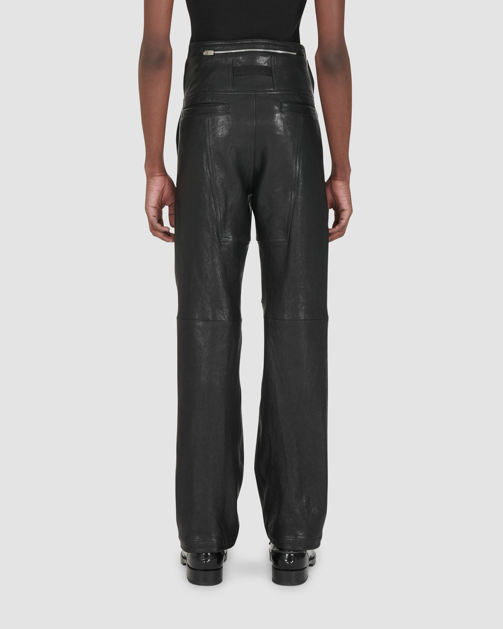 LEATHER FUORIPISTA PANT RUNWAY MADE TO ORDER